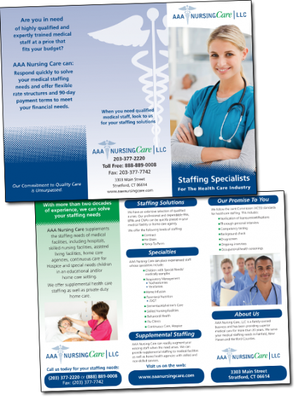 AAA Nursing Care Tri-Fold