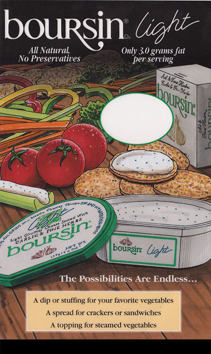 Boursin Veggies Deli Card