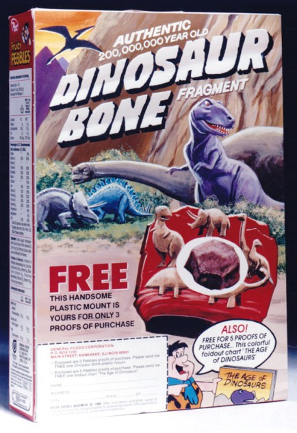 Post Cereal Dinosaur Bone Offer