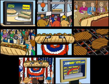 Subway Election Storyboard