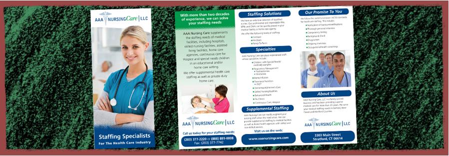 AAA Nursing Care Trifold Brochure