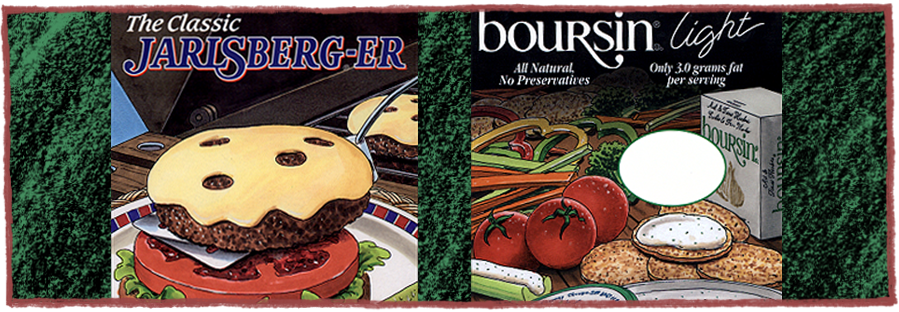 Jarlsberg and Boursin Deli Cards