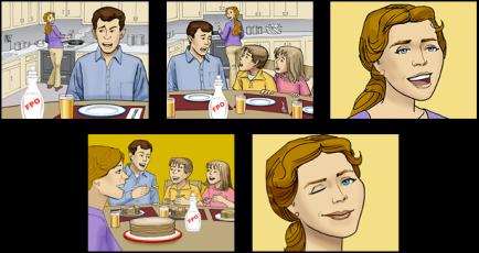 Pancake Syrup Storyboard