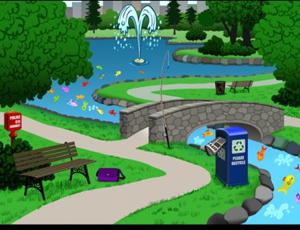 Game Art: Park Scene
