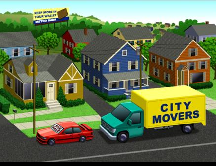 Game Art: Suburban Scene