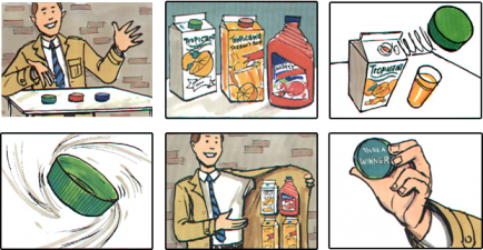 Tropicana Under-Cap Storyboard