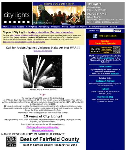 City Lights Gallery Website