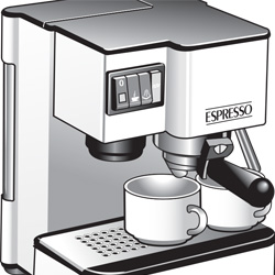 Black & Decker Espresso Maker Product Rendering