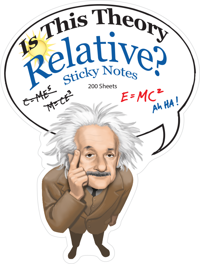 Einstein Sticky Notes Rendering and Packaging