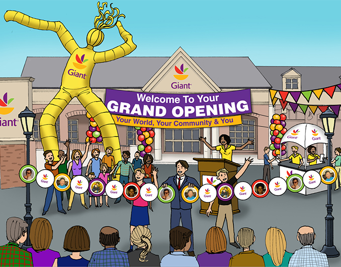 Giant Supermarkets Event Marketing Rendering