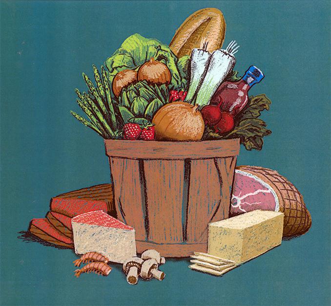 Kraft Fresh Market Bushel and Food Rendering