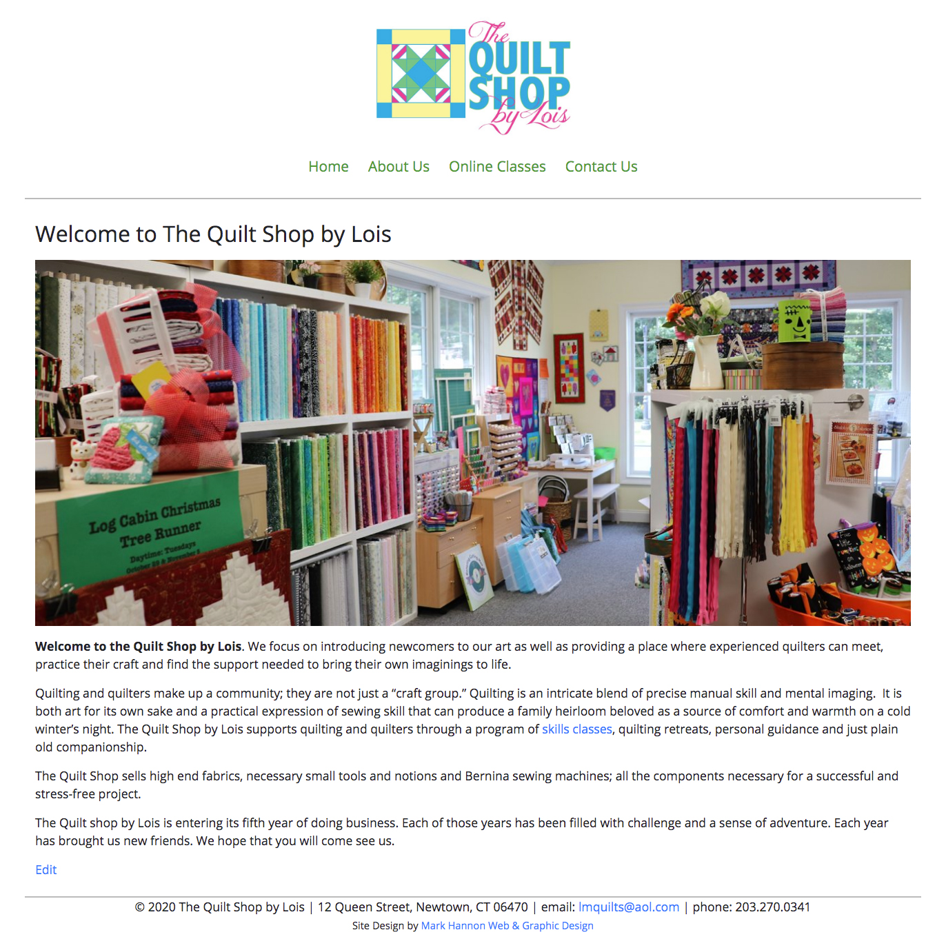 The Quilt Shop by Lois