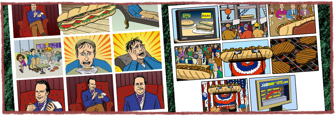 Subway Restaurant Storyboards