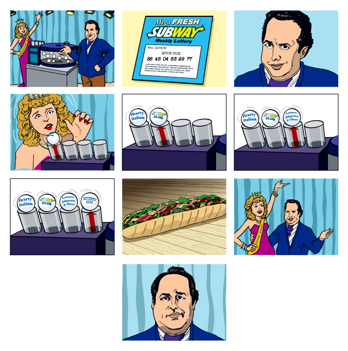 "Subway ""Lottery"" Storyboard"